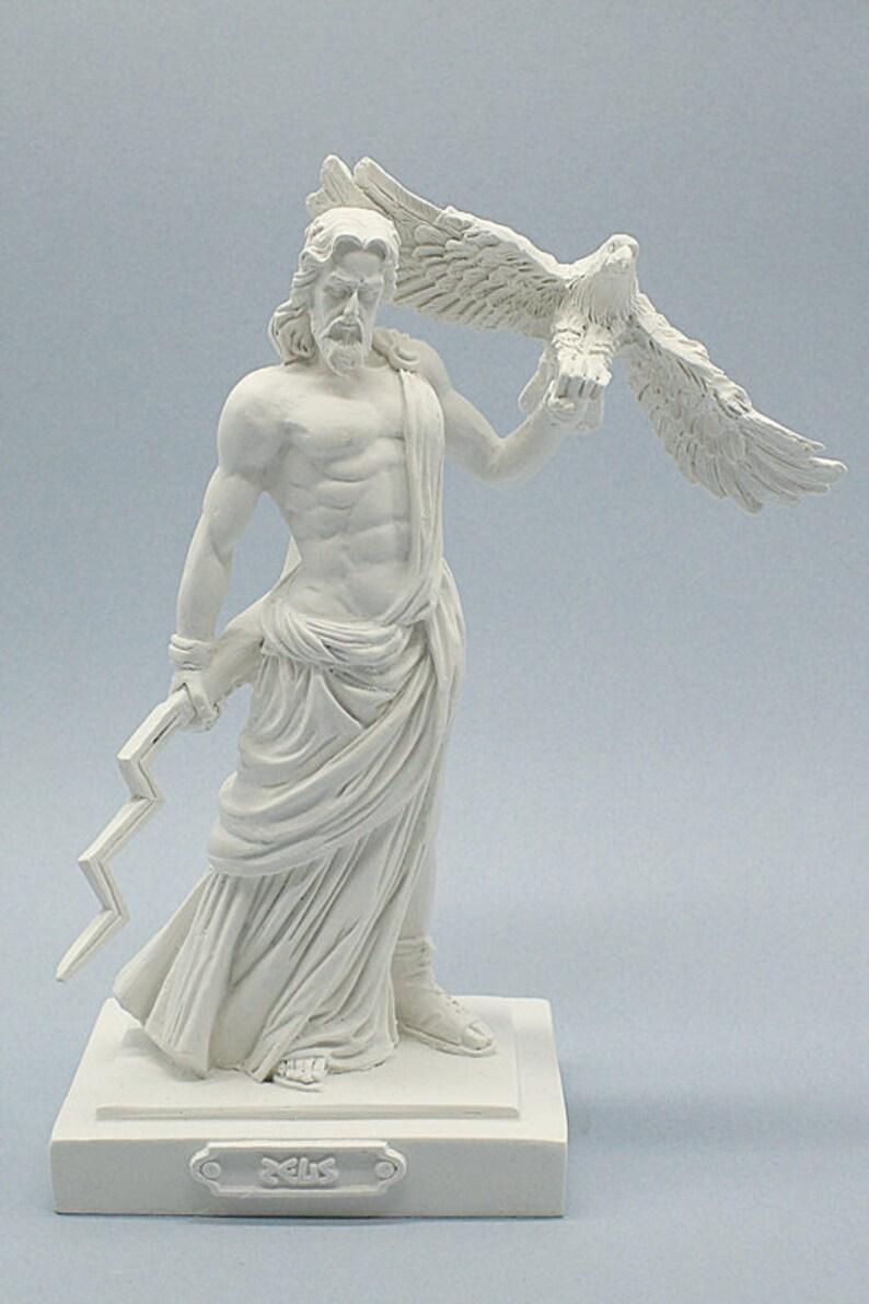 Ancient Gaia Statue zeus greek god statue (jupiter roman god) figurine ancient greek roman  mythology marble cast zeus sculpture 20cm