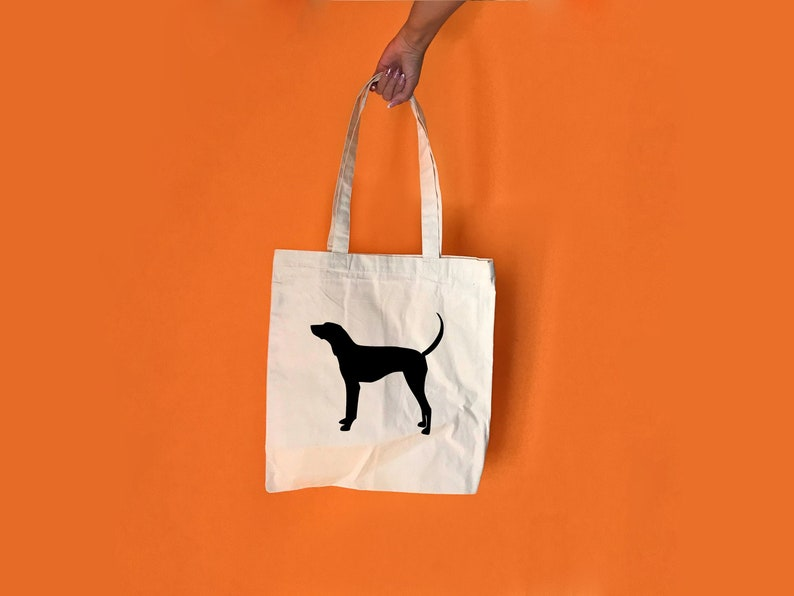 Dog shopping bag Custom dog mom gift Dog tote bag Custom tote bag Dog mom gift Coonhound bag Canvas tote bag Dog lover gift