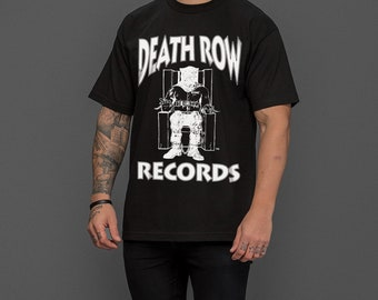 5574bf53bb3 Death row records 90 s vintage hip hop t-shirt tee as worn by snoop dogg 2pac  tupac dr dre and more