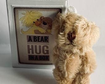 Small fluffy Black Bear Jointed Teddy Dolls House Mini Gift