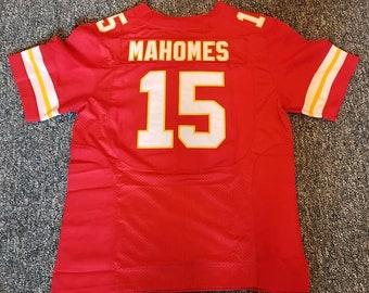 b7666519a5b PATRICK MAHOMES Kansas City Unsigned Custom Red Sewn New Football Jersey  Size S, M,L,XL,2XL,3XL