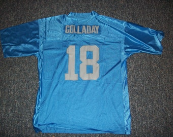 45ce1396 KENNY GOLLADAY Lions Unsigned Custom Blue Sewn New Football Jersey Size S,  M,L,XL,2XL,3XL