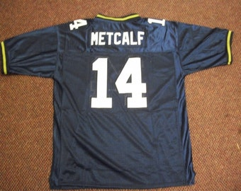 004417199 DK METCALF Seattle Seahawks Unsigned Custom Blue Sewn New Football Jersey  Size S