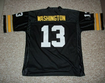 76362101 JAMES WASHINGTON Unsigned Custom Pittsburgh Steelers Black Sewn New  Football Jersey Size S, M,L,XL,2XL,3XL