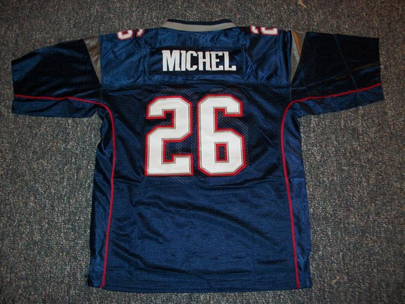 f0c7679a2a3 SONY MICHEL Patriots Unsigned Custom Blue Sewn New Football