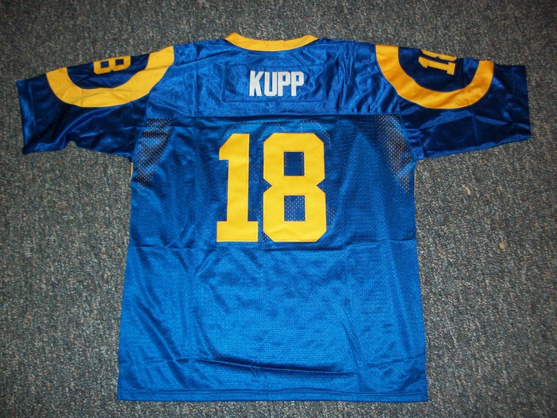 new style dfe6b d55af COOPER KUPP Rams Unsigned Custom Blue Sewn New Football Jersey Size S,  M,L,XL,2XL,3XL