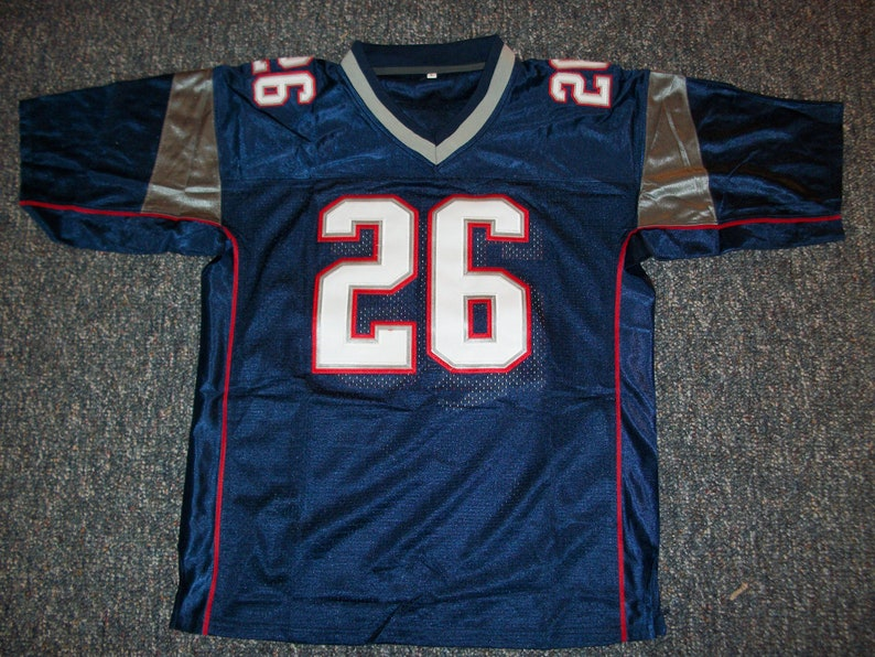 f5299d1d SONY MICHEL Patriots Unsigned Custom Blue Sewn New Football | Etsy