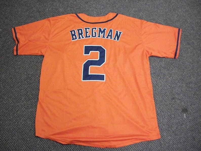 watch 4001b 94a18 ALEX BREGMAN Unsigned Custom Orange Sewn New BaseballJersey Size S,  M,L,XL,2XL,3XL