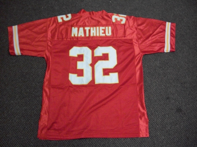 online store 4b099 07400 TYRANN MATHIEU Chiefs Unsigned Custom Red Sewn New Football Jersey Size S,  M,L,XL,2XL,3XL