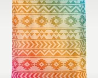 Shower Curtain Aztec Pattern