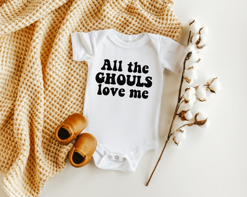 Halloween outfit All the ghouls love me funny baby onesie Halloween onesie Halloween baby fall baby boy outfits baby boy onesie