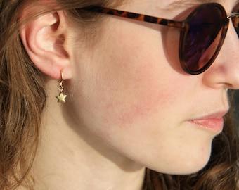 Earrings Star . gold (2 pcs./1 pair)