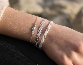 Bracelet Chevron silver