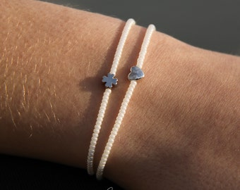 Bracelet Shamrock mother-of-pearl-silver