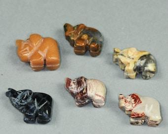 16mm x 22mm Hand Carved Carnelian Bear Fetish Bead
