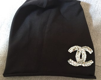 Hand made handmade Chanel hat logo cap b51aae3c845