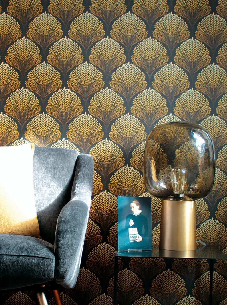 Vintage Wallpaper Retro 60s and 70s Designs Art Deco Wall Art   Etsy