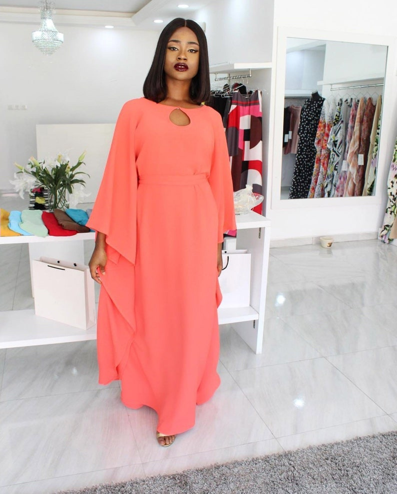 Burnt orange Kaftan dress, Plus size Kaftan maxi dress, Maternity kaftan  dress, Orange kaftan dress.