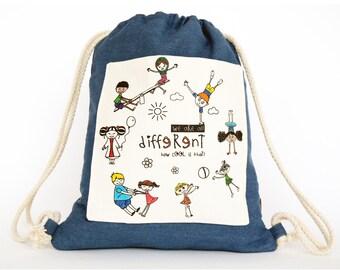 4ea2308e05d Kinderen koord zak/peuter rugzak/kinderen rugzak/inspirerende  gift/diversiteit