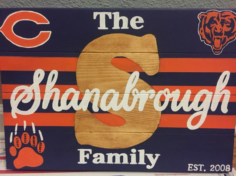 Chicago Bears Wall Decor Or Any Other Sports Team
