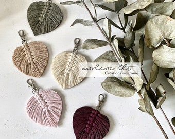 Macramé feather bag jewelry