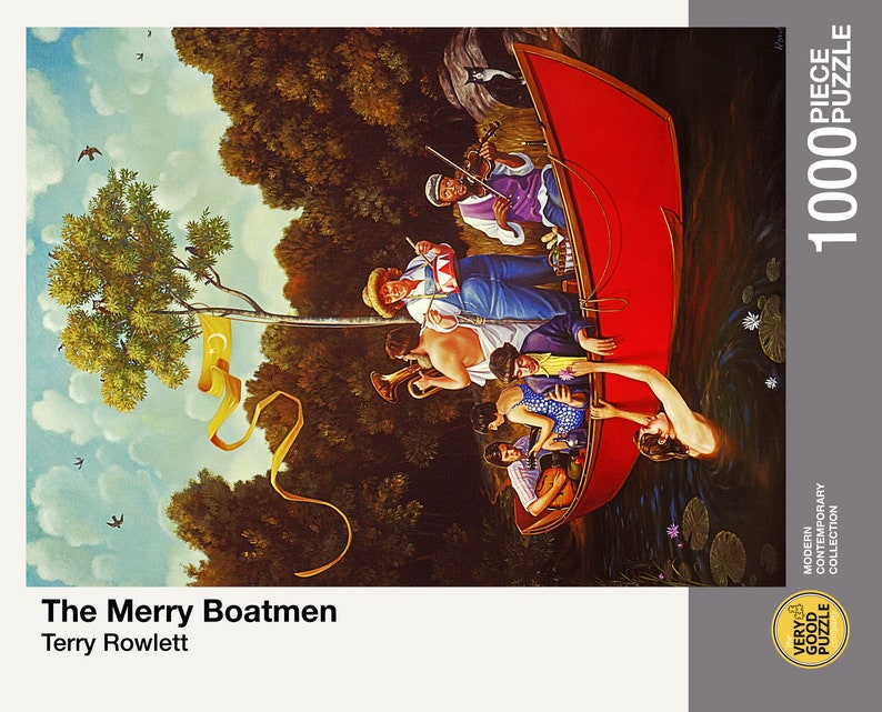 The Merry Boatmen by Terry Rowlett 1000 piece jigsaw puzzle