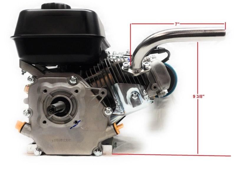 Exhaust Pipe For: Predator 212cc, Honda GX160 GX200  Go Kart & mini bikes
