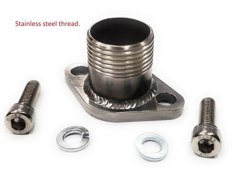 Stainless Steel Threaded Exhaust Adaptor Flange for: Predator 420cc &  301cc, Honda 270cc or GX 389