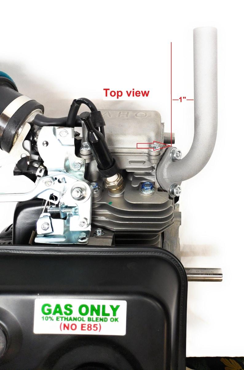 Low Profile Exhaust, Predator 212cc, Honda GX160, GX200  Go Kart & mini  bikes