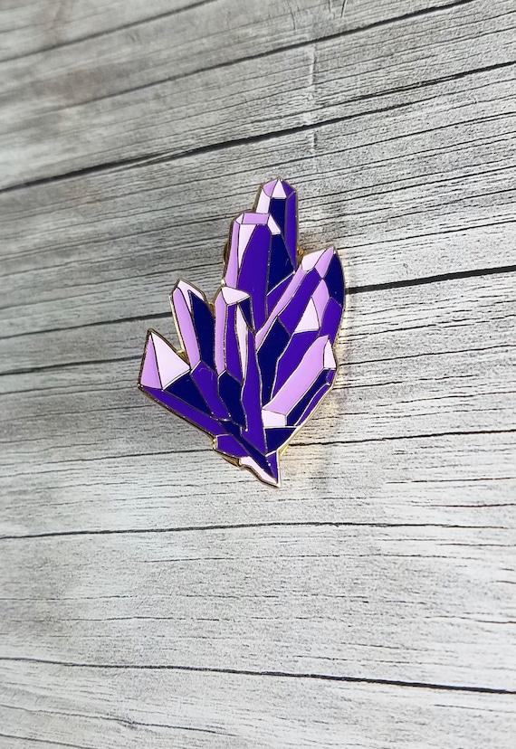 Amethyst Enamel Pin Crystal Enamel Pin