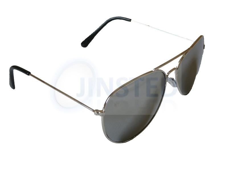 Adult Silver Mirrored Reflective Aviator Sunglasses UV400 Protection AA005
