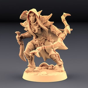 Tabletop Role Playing Dungeons and Dragons Mutant Feline 3D Printed Resin Miniature