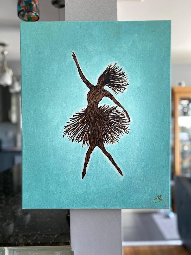 Ballerina READY TO SHIP 16\u201dx20\u201d Acrylic on Canvas