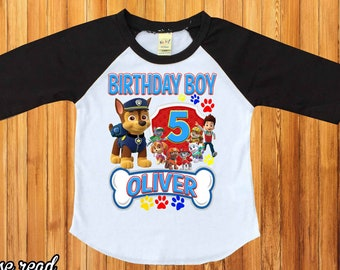 Paw Patrol Birthday Shirtpersonalized Shirt Party First Shirtraglan PatrolcustomH 28