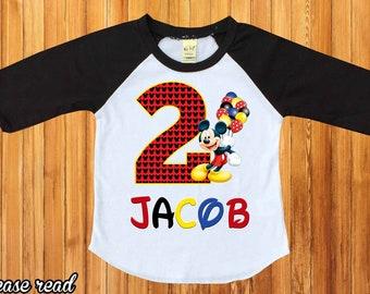 Mickey Mouse Birthday ShirtMickey Shirtpersonalized Shirtmickey Party Shirtbirthday Boy Shirtfirst BirthdayH 35