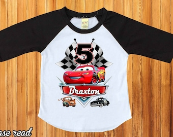 Cars Birthday ShirtLightning McQueen Shirtpersonalized Disney Shirtcars Party Shirtbirthday Boy Shirrtfirst BirthdayH 49