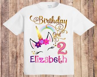 Unicorn Birthday Shirt  Personalized Unicorn Shirt  Unicorn Party  Unicorn Birthday  Glitter Floral Unicorn Shirt  9 Birthday unicorn