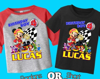 Mickey And The Roadster Racers Shirt,Personalized Mickey And The Roadster Racers Birthday Shirt,mickey and the roadster racers,birthday,H-36
