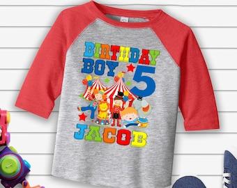 Circus Birthday Shirtcircus Party Themeringmaster Shirt Boy Shirtpersonalized Carnival ShirtH 3