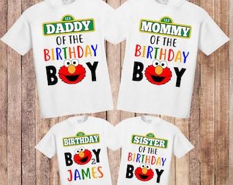 4bdb38015054 Elmo birthday shirt, Elmo baby boy birthday, elmo birthday party, elmo theme  shirts, personalized birthday shirt, custom elmo shirt H-121