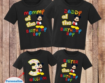 Mickey Mouse Shirtfirst Birthday Mickeymickey First Shirtmickey Shirtcustom Shirtbirthday Boy ShirtH 29