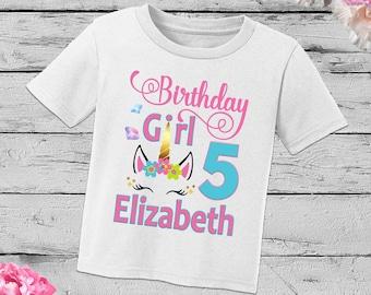 Personalized Unicorn Birthday Shirtunicron Girl Shirtbirthday Shirt ShirtUnicorn ShirtH 12