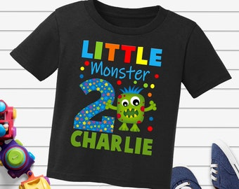 Little Monster Birthday shirt,personalized monster birthday shirt,monster shirt,little monster birthday shirt,birthday monster shirt,H-20