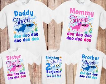 69236167f Baby Shark birthday shirt, birthday baby shark shirt, first birthday baby  shirt, baby shark doo doo doo shirt, birthday shirt sharks H130