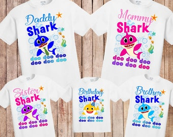 4d26e5659 Baby Shark birthday shirt, birthday baby shark shirt, first birthday baby  shirt, baby shark doo doo doo shirt, birthday shirt sharks,H-132