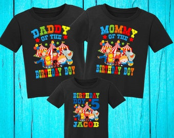Personalized Circus Birthday Shirtpersonalized Carnival Shirtcircus Boy Shirtfamily Matching Shirtsfirst BirthdayH 3