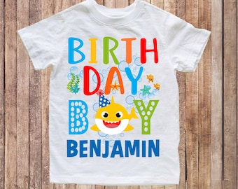 0d1f0808d Baby Shark birthday shirt, birthday baby shark shirt, first birthday baby  shirt, baby shark doo doo doo shirt, birthday shirt sharks H134
