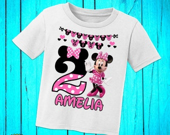 Personalized Minnie Mouse Birthday ShirtMinnie Shirtminnie Girlfirst Birthdayminnie PartyH 53