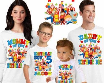 Personalized circus birthday shirt,circus birthday shirt, personalized carnival shirt,birthday boy circus shirt,family matching shirts,H-3