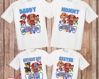 Paw Patrol Shirtpersonalized Birthday Shirtcustom Shirtbirthday Boy Shirtparty Shirt BoyH 28